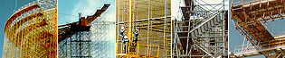 Photos of scaffolding and shoring jobs